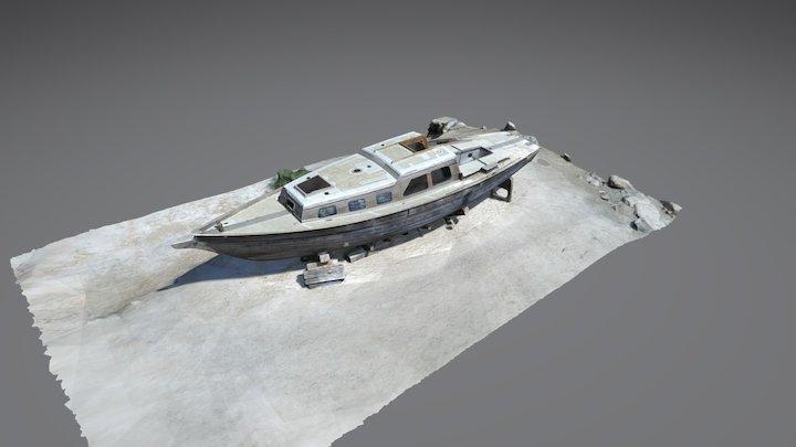 Old Salton Sea Boat at Bombay Beach 3D Model