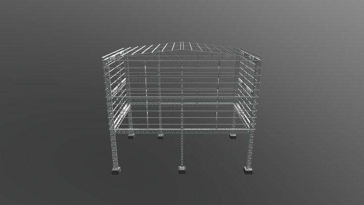 GALPÃO METÁLICO NUTRALI 3D Model