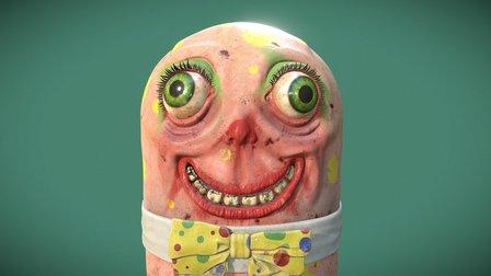 Mr Blobby 3D Model