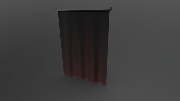 Backstage Blackout Curtains 3D Model