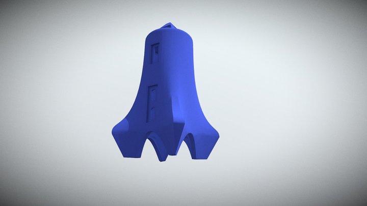 Rocketship Case for Pi Zero 3D Model
