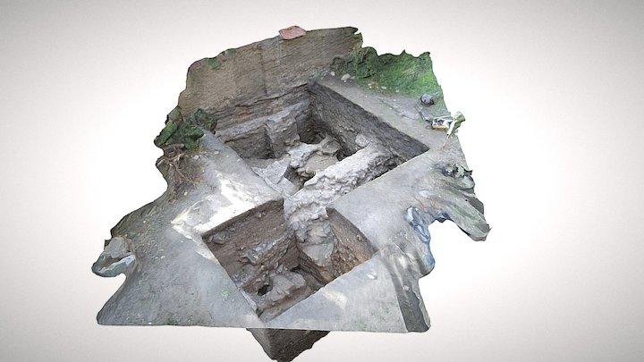 Pozůstatky apsidy na Vyšehradě 3D Model
