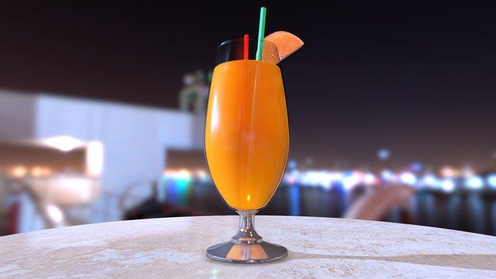 Orange juice -  version 01 3D Model