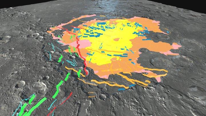 Rembrandt basin (Mercury): 3D geo-model 3D Model