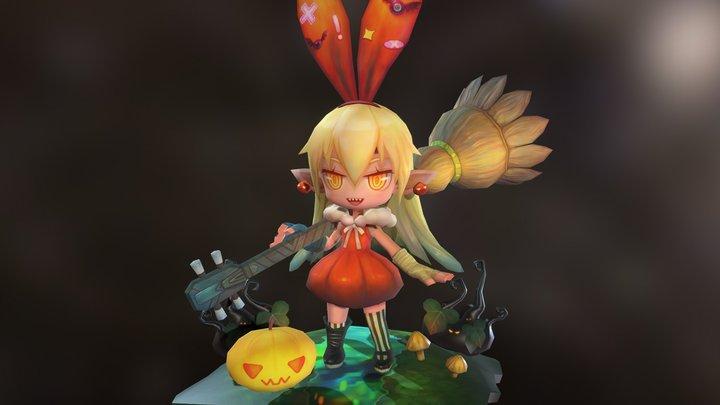 Happy Halloween 3D Model