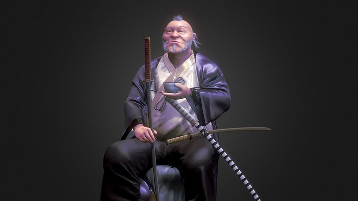 Old Samurai Sculpt 3D Model