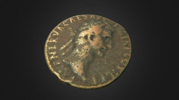 Moneda romana de Nerva 3D Model