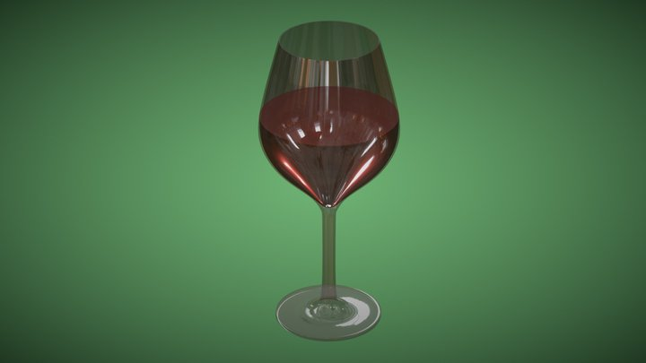 The Wine Glass 3D Model