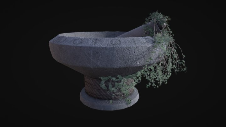 Giants Pestle and Mortar 3D Model