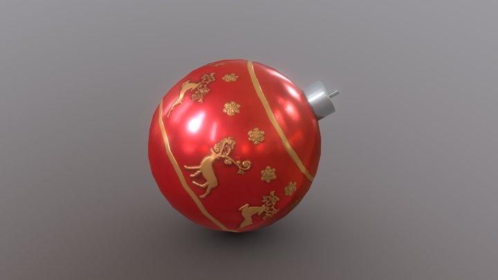 Day 6 - Reindeer Ornament 3D Model