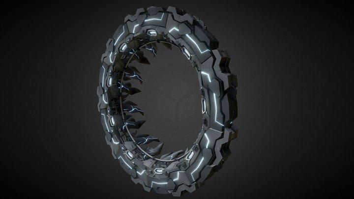 Star Gate Portal 01 3D Model