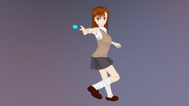 Misaka Mikoto (Toaru No Kagaku No Railgun) 3D Model