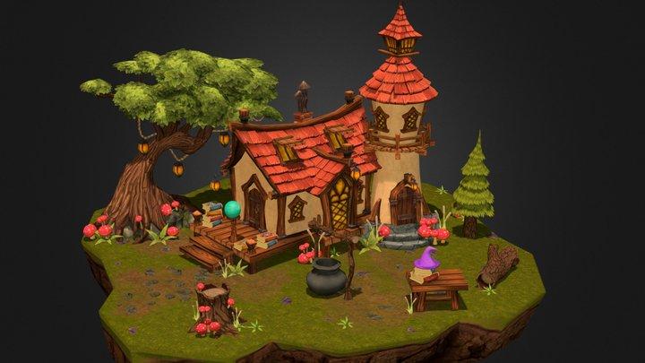 Wizard House - WIP 3D Model