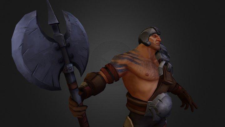 Overpower Warrior 3D Model