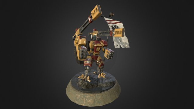 Tau Broadside Battlesuit - University 3D Project 3D Model