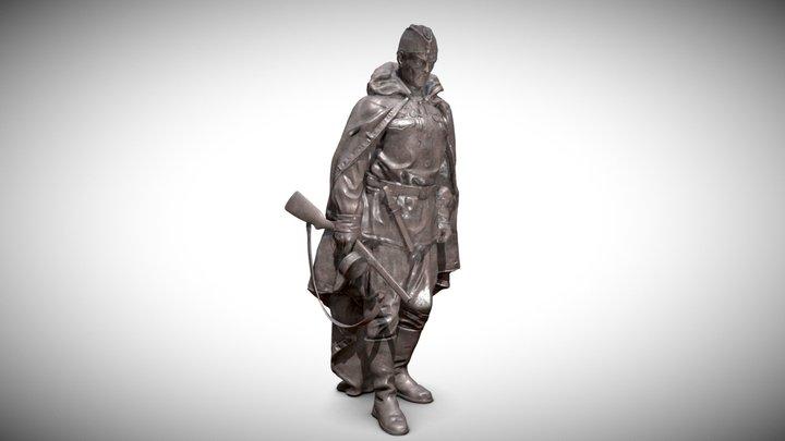 "Monument  ""Defender of the Motherland"" 3D Model"