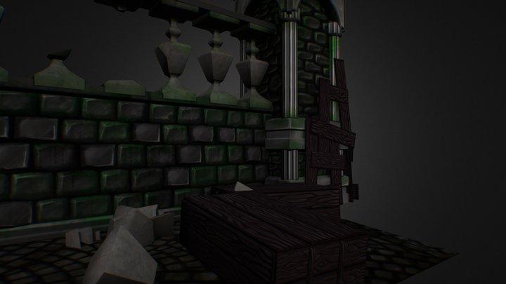 Bloodborn Wall 3D Model