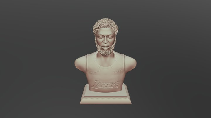 Anthony Davis sculpture model Ready to 3D Print 3D Model