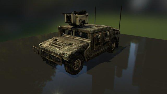 Voxel Hummer 3D Model