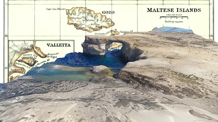 Azure Window - 3D scan before the collapse, 2016 3D Model