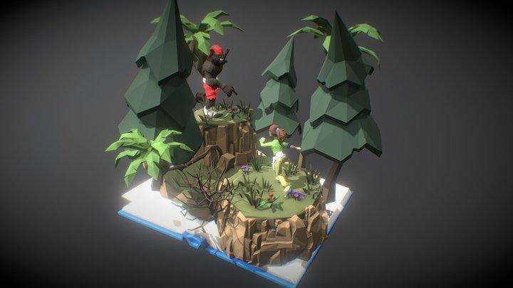 Brasil Capoeira x Saci 3D Model
