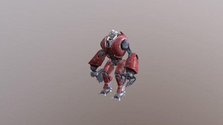 Mech Warrior 3D Model