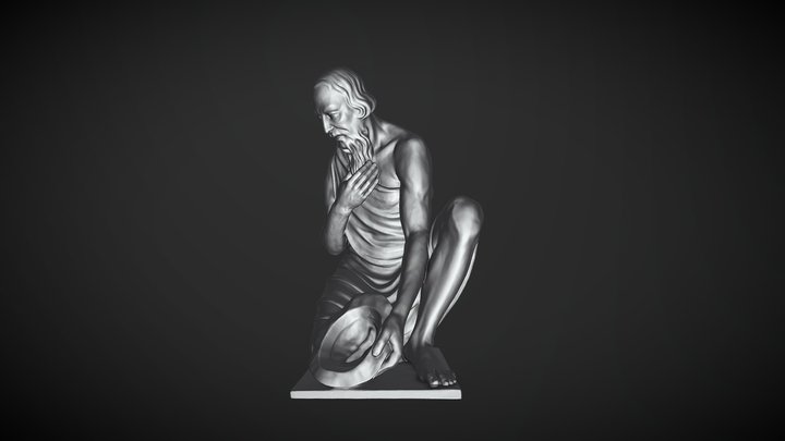 Perl Skulptur 02 1zu1 LR 3D Model