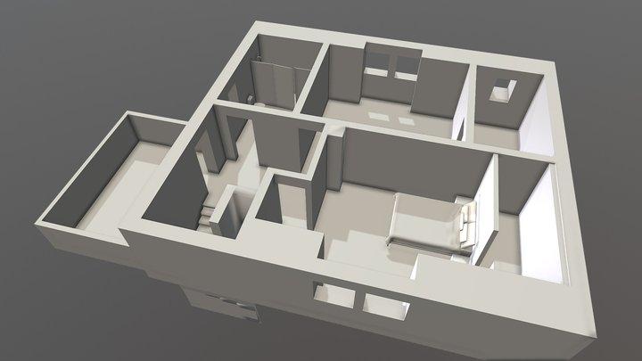 Obergeschoss Final 3D Model
