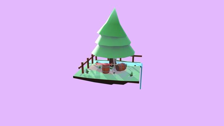 Floting Island 3D Model