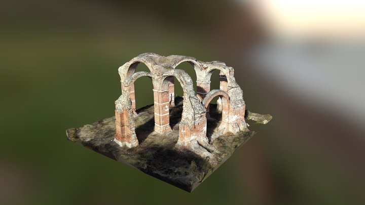 Dormition of The Mother of God Church Ruins 3D Model