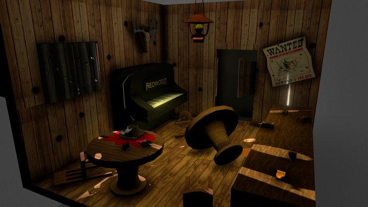 Saloon Shootout 3D Model