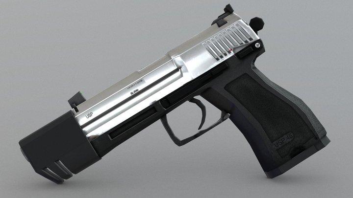 USP Match 9mm Pistol 3D Model