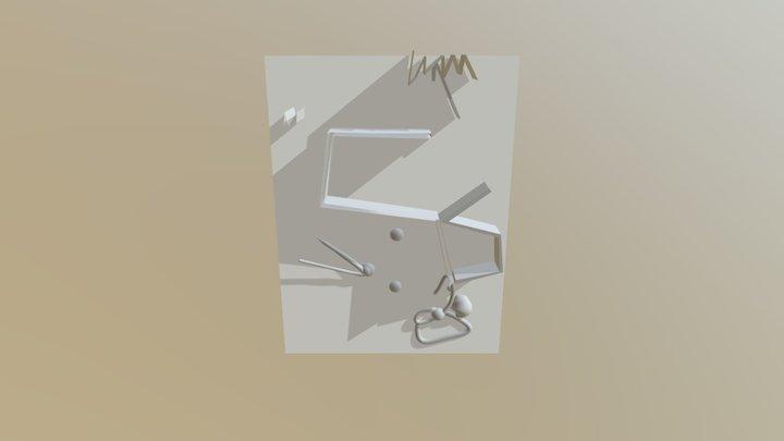 3D Mode Mars's Drawing 3 3D Model