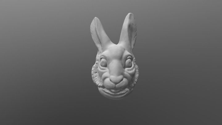 Rabbit Mask Hollow 3D Model