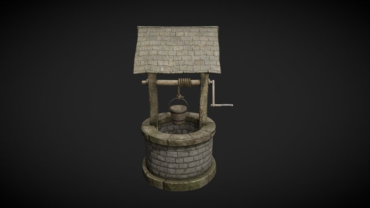 Old Forest Well 3D Model