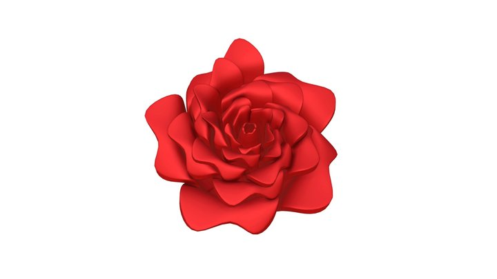 Red Rose for 3D printing 3D Model