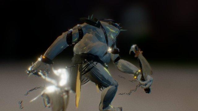 Orc Created in Tilt Brush 3D Model
