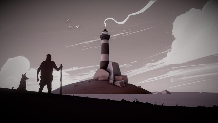 A journey to the lighthouse 3D Model