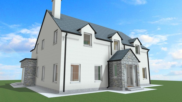 Country House Typical 4/5 Bedroom Design 3D Model