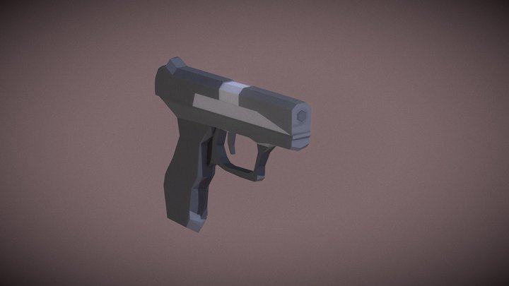 Low-Poly: Walther P99 3D Model