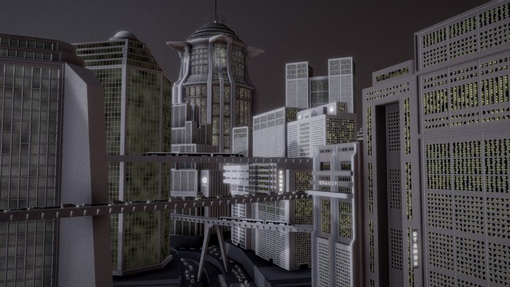 Metropolis — Cityscape 3D Model