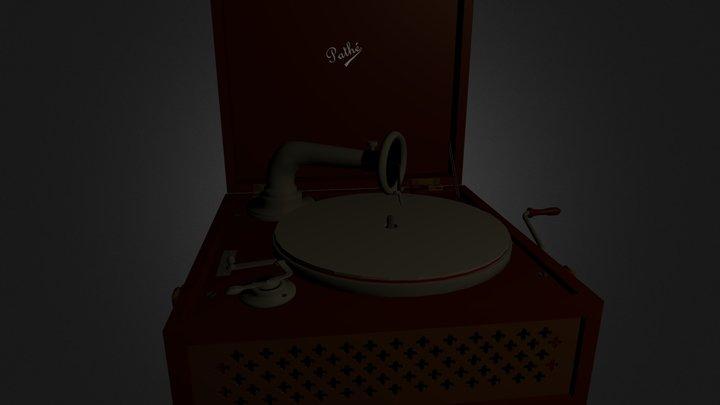 Record player PathÇ on 1922 3D Model