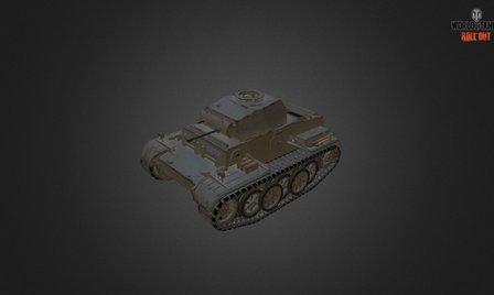Pz Kpfw II Ausf J 3D Model