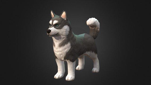 husky dog 3D Model