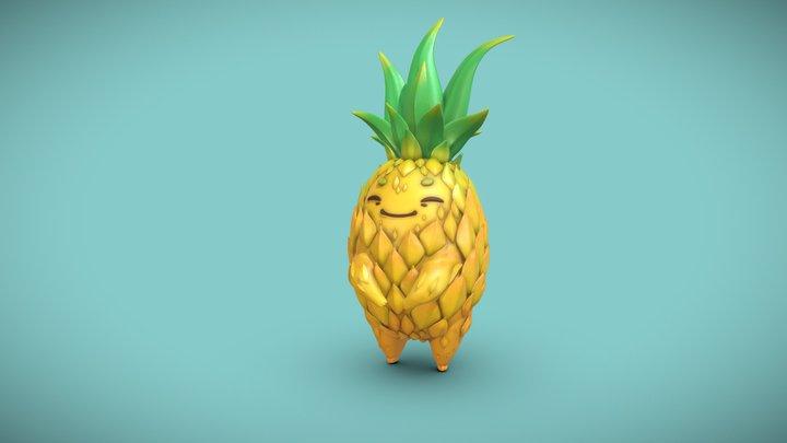 Cute Pineapple 3D Model