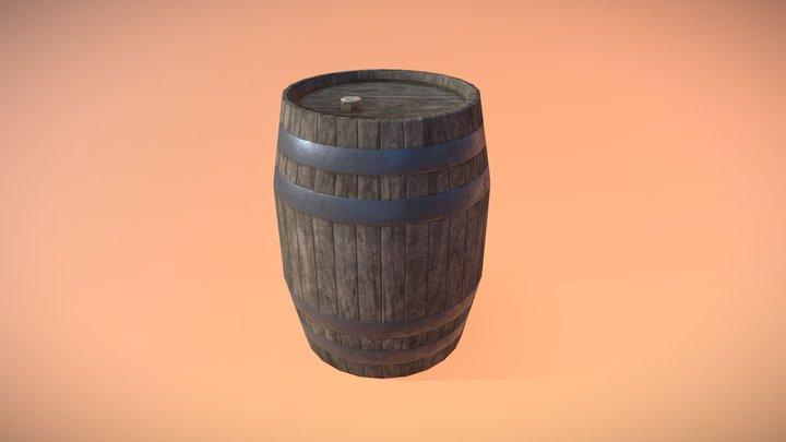 Low Poly - High Quality Barrel 3D Model