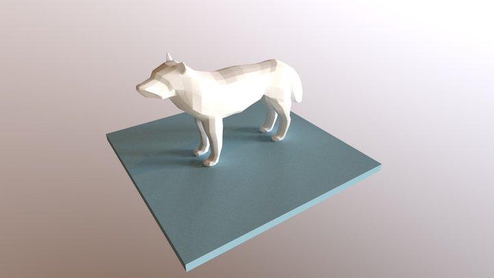 Low Poly Dog 3D Model
