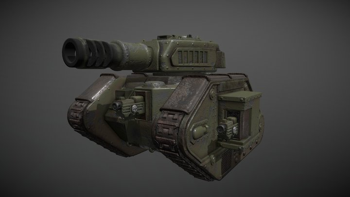 Leman Russ Warhammer 40k 3D Model