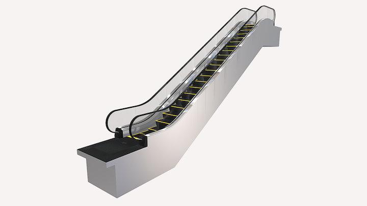 Escalator / Эскалатор KONE TravelMaster 110 3D Model
