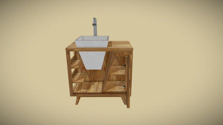 Meuble teck salle de bain SENA